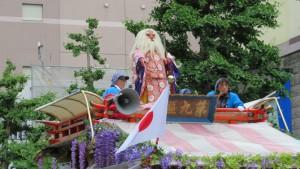 東北祭典区の山車人形(猿田彦尊)