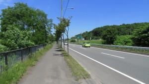 札幌新道(厚別方面)
