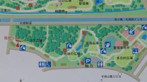 平岡公園(東地区)の案内図