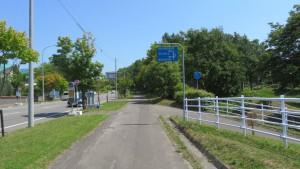 厚別青葉通ともみじ台自転車道入口