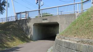 厚別青葉通下のそよ風トンネル