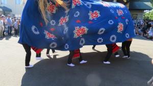 篠路獅子舞(獅子の足)