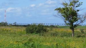 JR石狩川橋梁を望む