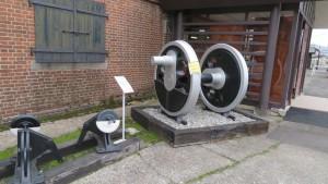蒸気機関車(SL)「D51」動輪と転てつ機