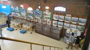 北海道鉄道技術館2階から1階を望む