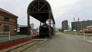 屋外展示の蒸気機関車(SL)「C62 3号機」