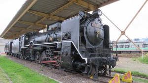 屋外展示の蒸気機関車(SL)「D51237号機」