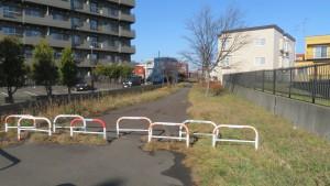 北白石サイクリングロード入口