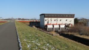 米里川と月寒排水機場