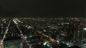 JRタワー展望室から見る夜景(北)