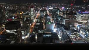 JRタワー展望室から見る夜景(南)