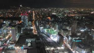 JRタワー展望室から見る夜景(西)