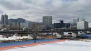 南大橋と札幌パークホテルとホテルライフォート札幌