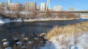 豊平川とでんでん大橋