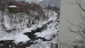 豊平川の渓谷