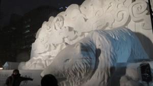 4丁目 大雪像「ALL IS ONE~世界のはじまり、アイヌ物語~」