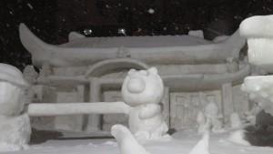 9丁目 中雪像「ゆいまーる」