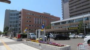 中央区役所と中央健康づくりセンター
