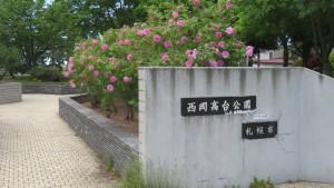 園名板「西岡高台公園」