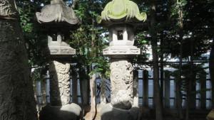 札幌最古といわれる石灯篭
