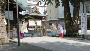 神職による夏越の大祓