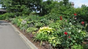 世界の庭園内のボーダーガーデン
