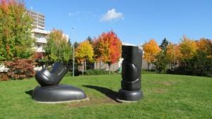 野外彫刻「バブル・ブーン」