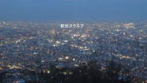 市街地の夜景(創世スクエア方面)