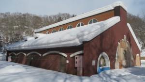 冬期間封鎖された焼肉ガーデン「あしりべつ」