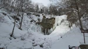 氷瀑したアシリベツの滝