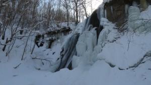 鱒見の滝の氷瀑