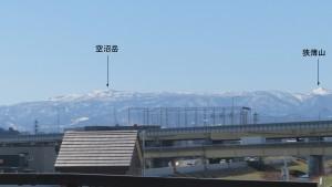 米里11号橋から南西方向に見える山