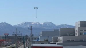 東栄橋から南西方向に見える山