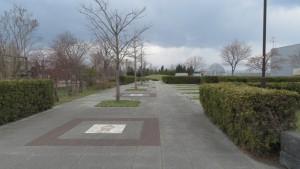 丘珠公園入口から続く園路