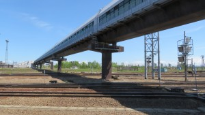 JR平和駅と柏山跨線人道橋【柏山歩道1号線】