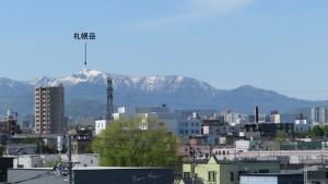 山座同定(札幌岳)【白石高架橋】